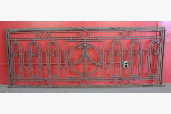 Wrought iron panel balcony gate fence console table lot for Balcony console