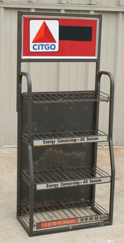 121 Citgo Steel Oil Rack Sunoco Motor Oil Engine Prot
