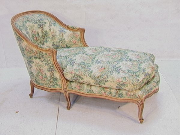 786 Country French Chaise Lounge Antique Fainting Couc