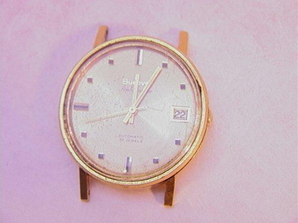 1336 18k gold bulova ambassador wrist 30