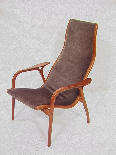 338 Yngve Ekstrom Swedese Laminate Teak Lounge Chair Lot 338