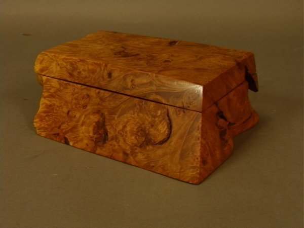 Michaels Favor Boxes With Lids : Michael elkan burled wood box with hinged lid