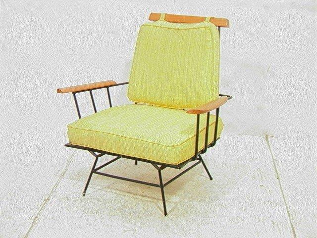 242 Richard Mccarthy Black Iron Chair Paul Mccobb Styl