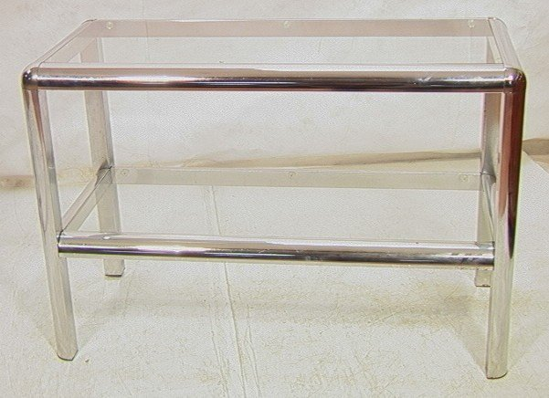 169 70 39 s modern chrome and glass console table heav for 70 inch console table
