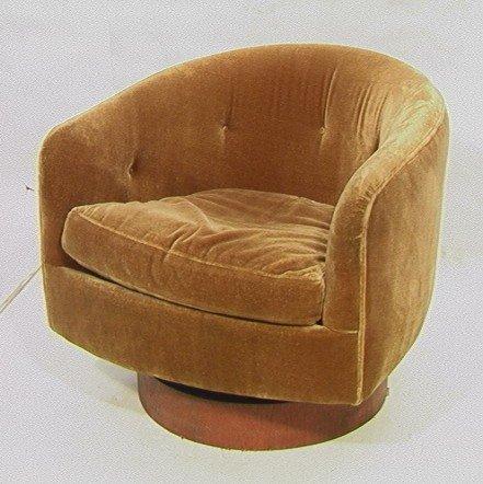 372: THAYER COGGIN Barrel Chair with Swivel Rocker Bas : Lot 372