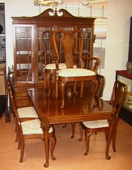 88 queen anne dining room set pennsylvania house ba lot 88 for Dining room queen anne