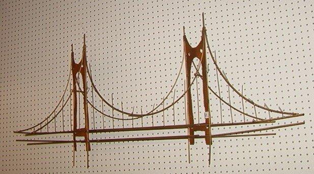 222 jere style wall sculpture golden gate bridge lot 222. Black Bedroom Furniture Sets. Home Design Ideas