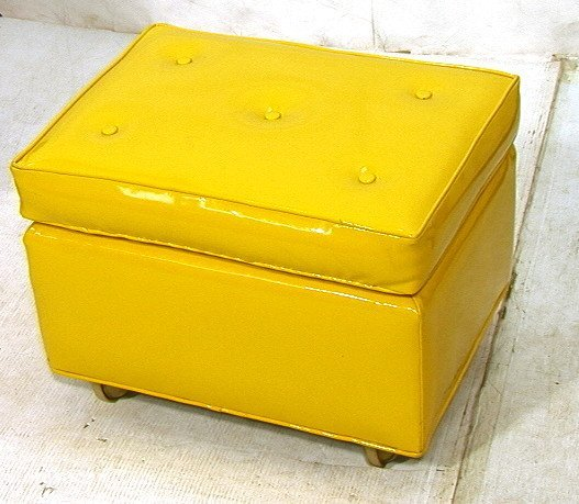 Ottoman yellow angelo home kent storage bench ottoman for Small storage hassocks