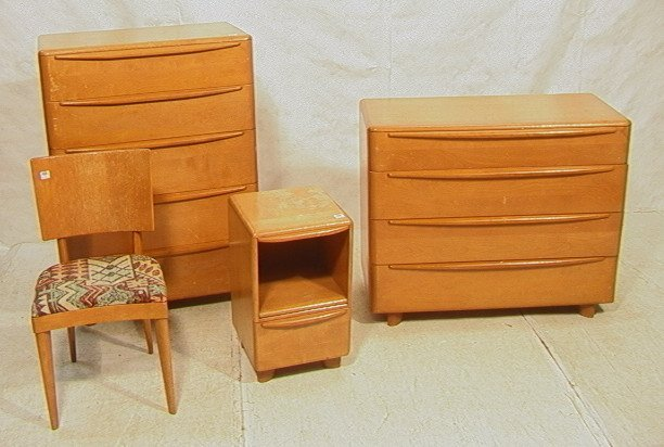 620 4 pcs heywood wakefield bedroom set chest