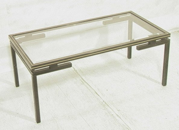 Pierre Vandel Paris Metal Cocktail Coffee Table Lot 353