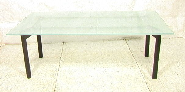 Thick Frosted Glass Dining Conference Table Thic Lot 548