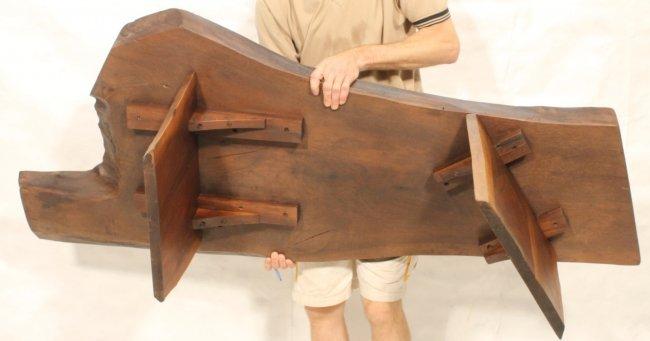 Free form wood slab coffee table nakashima style lot 173 for Free form wood coffee tables