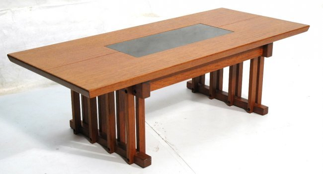 Tony Beverly Walnut Craftsman Style Coffee Table Lot 259