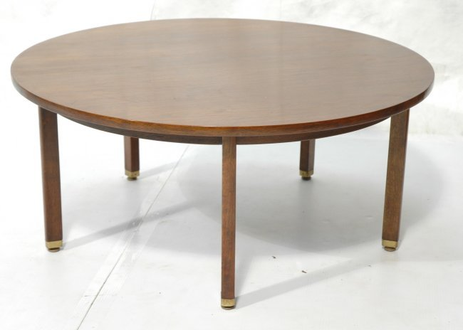 Dunbar Round Cocktail Coffee Table Square Wood L Lot 409