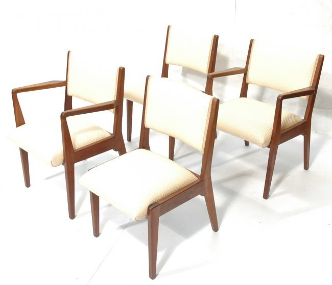 4 jens risom dining chairs 2 armchairs 2 side lot 516 - Jens risom dining chairs ...