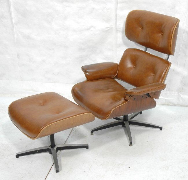 Selig Eames Style Lounge Chair and Ottoman Molde Lot 612