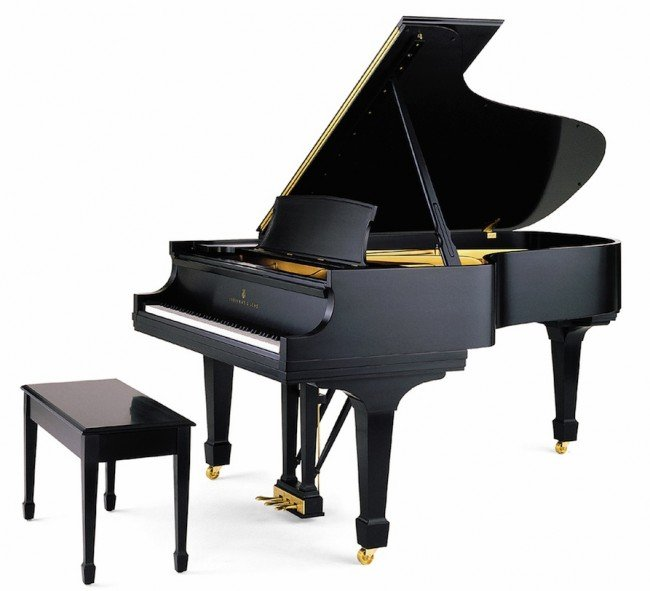 383 a steinway sons black lacquered baby grand piano lot 383. Black Bedroom Furniture Sets. Home Design Ideas