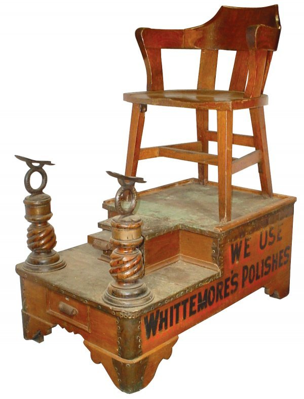 360 Whittemore S Shoe Shine Stand Amp Chair Quot We Use Whi