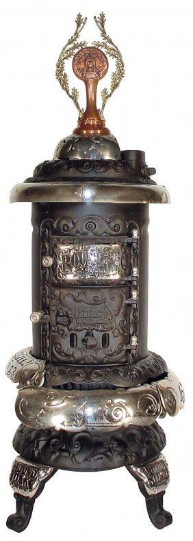 0389 Round Oak Parlor Stove Model M 12 1909 1915 T