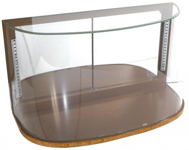 659 Wrap Around Curved Glass Counter Display Case Mir
