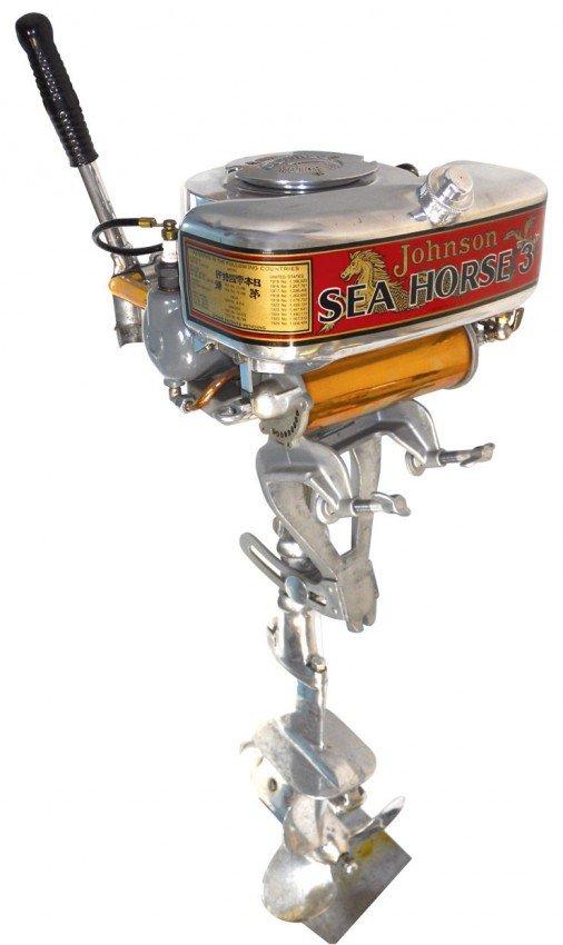 0161 Boat Outboard Motor Johnson Sea Horse 3