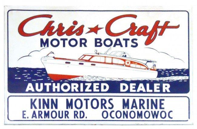 0308 boat dealer advertising sign chris craft motor b for Chris motors auto sales