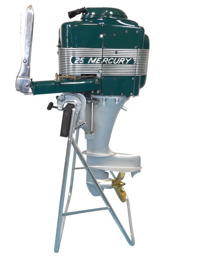 0309 Boat Outboard Motor W Stand Mercury 25 Thunderbo