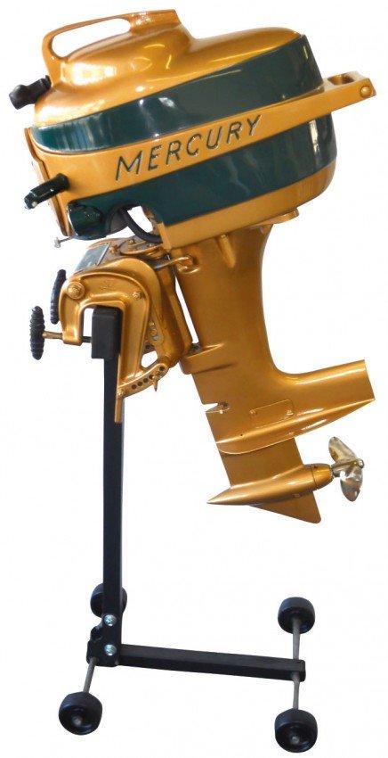 0367 Boat Outboard Motor W Stand Mercury Kiekhaefer M