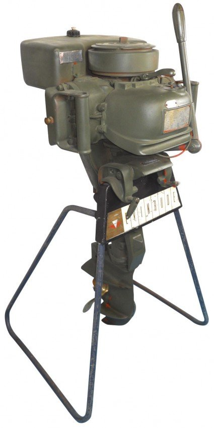 0403 Boat Outboard Motor W Stand Evinrude Storm