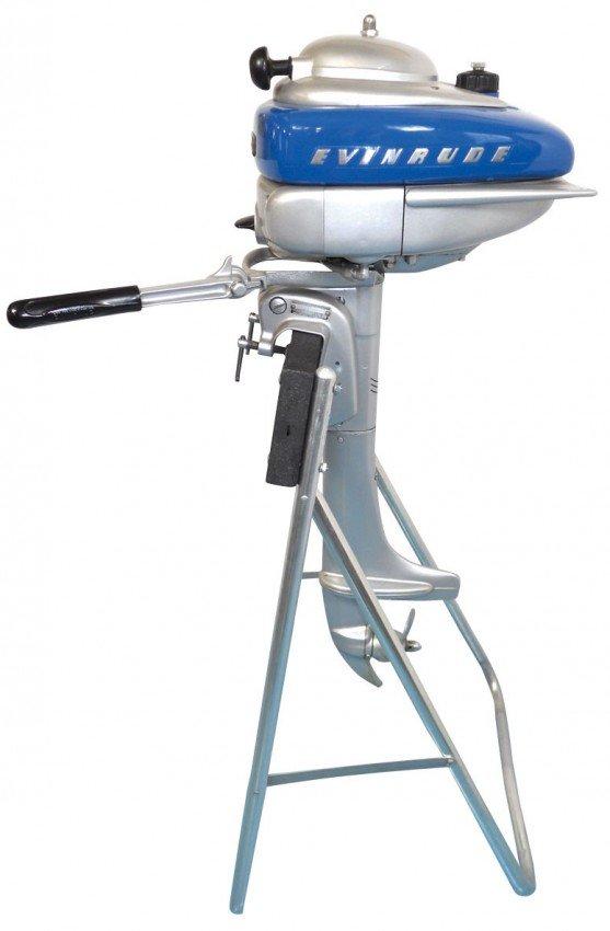 0514 Boat Outboard Motor W Stand Evinrude Sportwin M