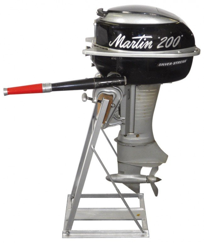 0791 Boat Outboard Motor W Stand Martin Model 200 Si