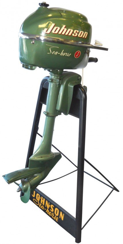 0941 Boat Outboard Motor W Stand Johnson Sea Horse M