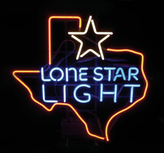 0025: Breweriana, Lone Star Light neon sign, new-old-st