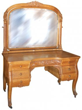 0965 Furniture Birdseye Maple Vanity From The Histor Lot 965