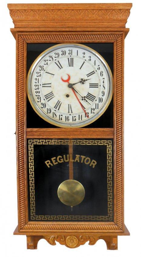 Clock Wall Regulator By Ingraham Co Bristol Conn O