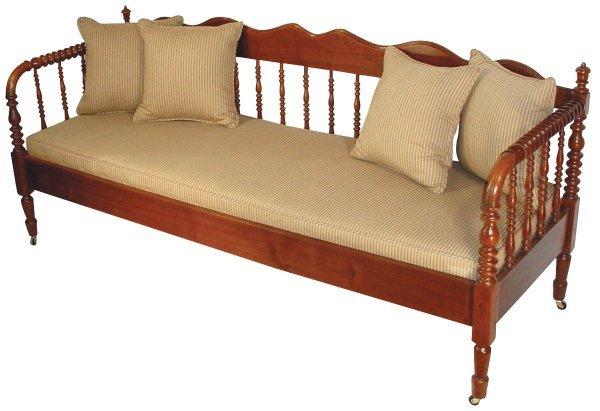 1071 Furniture Sofa Jenny Lind Walnut Spool Sofa W A Lot 1071