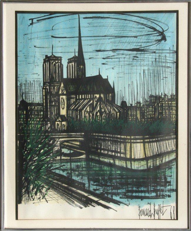 50 bernard buffet notre dame lithograph lot 50 for Bernard buffet cote