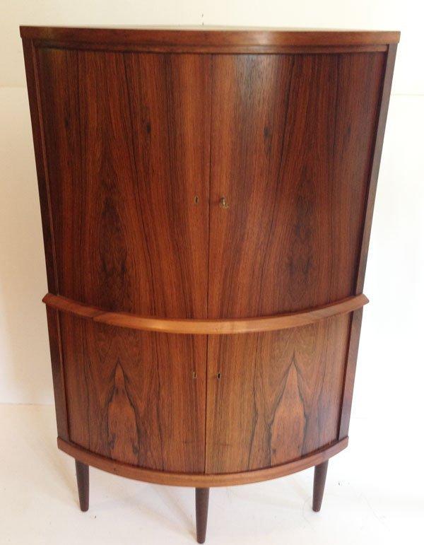 Mid Century Danish Modern Corner Cabinet : Lot 193