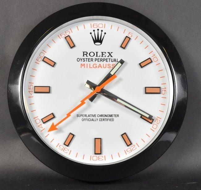 A Rolex Wall Clock Lot 1189