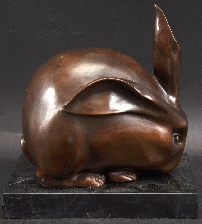 after francois pompon an art deco style bronze rabbit lot 1472. Black Bedroom Furniture Sets. Home Design Ideas
