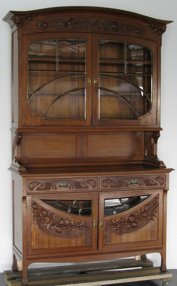 207 19th c french art nouveau buffet lot 207. Black Bedroom Furniture Sets. Home Design Ideas