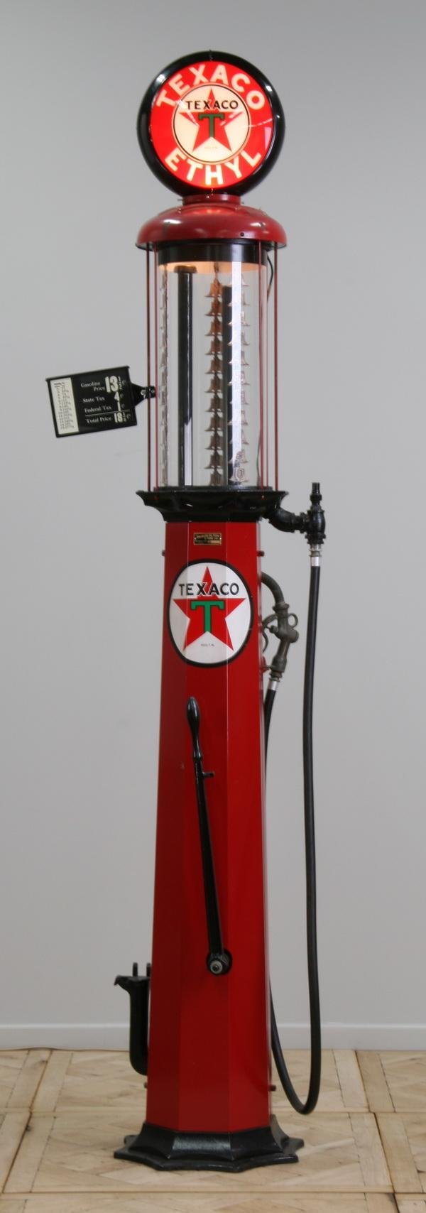 Vintage gas pumps glass advertising