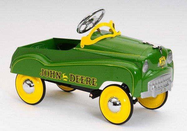 71: Late 20th c.1950's style John Deere pedal car