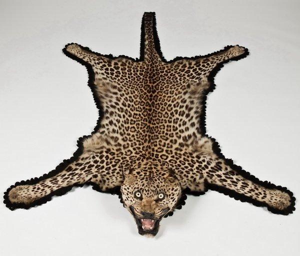 151: Vintage Leopard Skin Rug : Lot 151