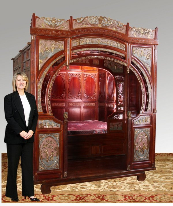 119 19th c chinese wedding bed lot 119