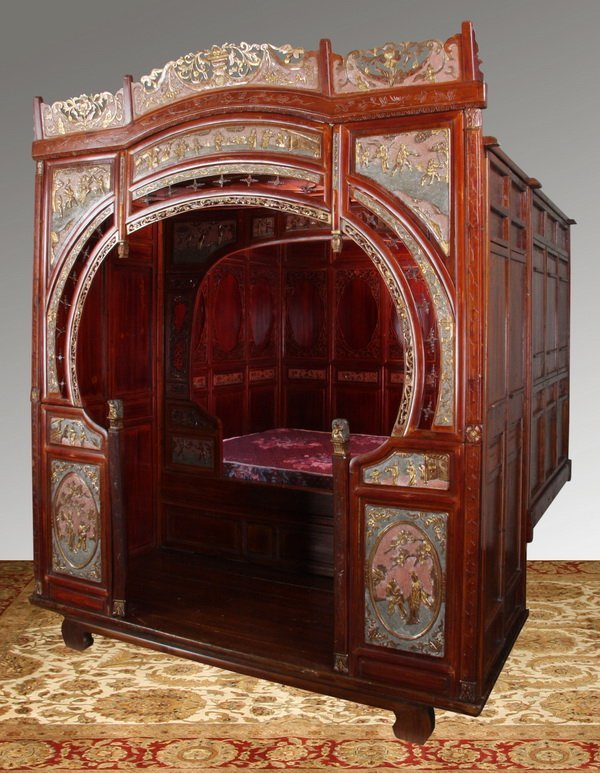Antique Bed: 119: 19th C. Chinese Wedding Bed : Lot 119