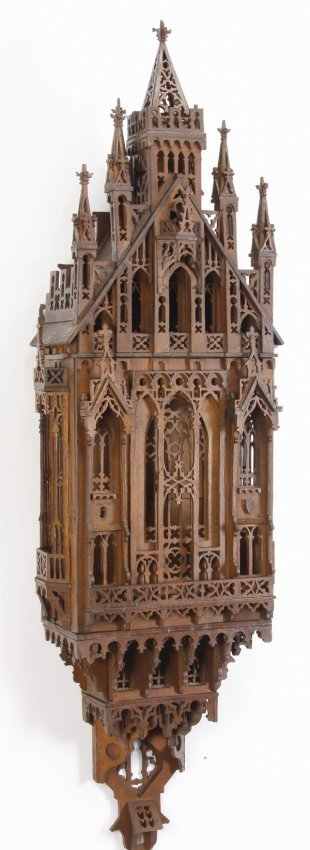 480 20th C Gothic Revival Wall D Cor 59 H Lot 480
