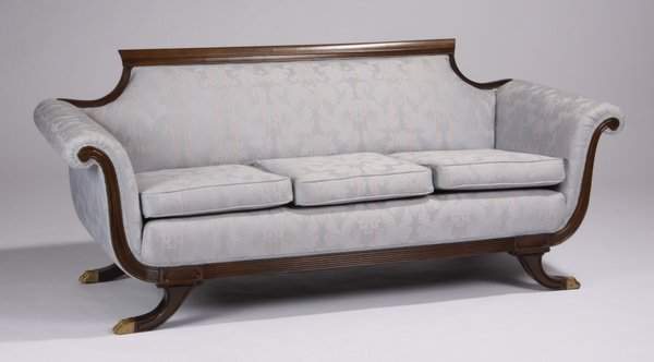 Early 20th C American Empire Style Sofa Lot 659