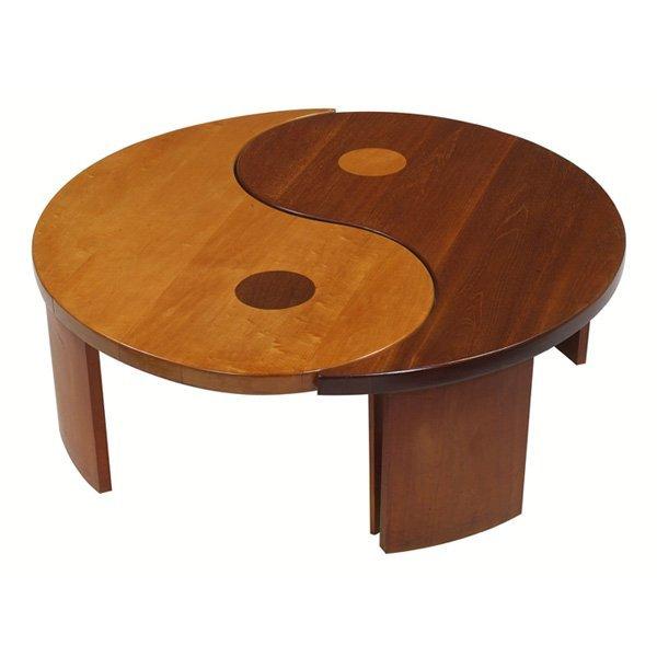 912 1950s Yin Yang Coffee Table Lot 912