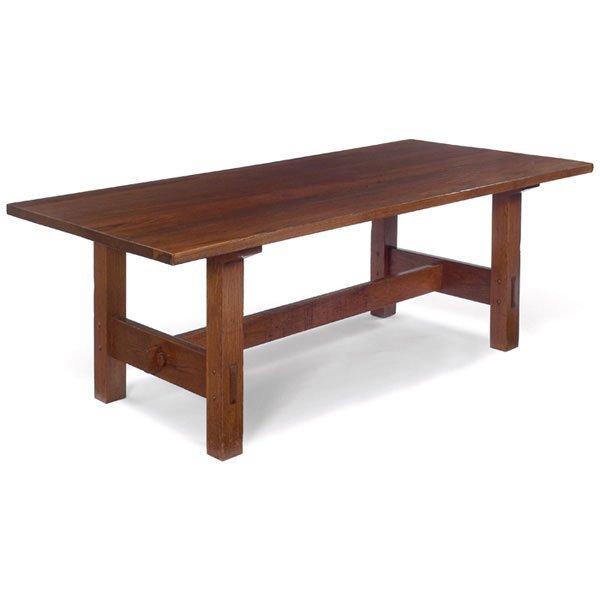 154 gustav stickley dining library table 622 lot 154